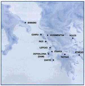 Destinations Map Italy Greece