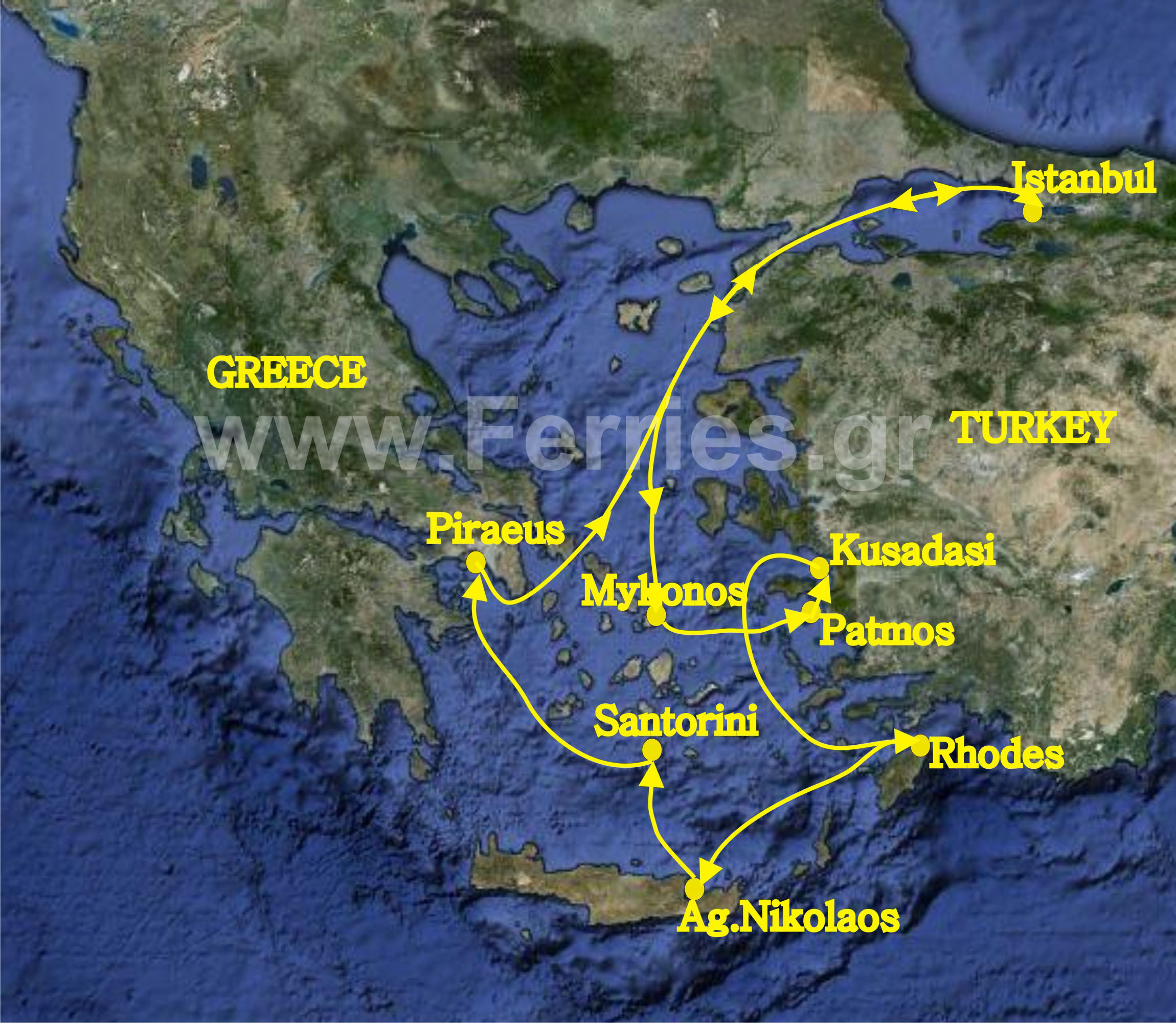 7Day Cruise to Aegean islands and Turkey Departure from Piraeus