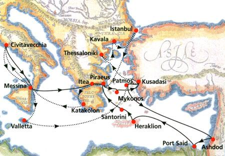 Map Of Italy Greece And Turkey.Cruises 10 Days Egypt Holy Land Cruise Italy Greece Turkey