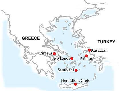 All Greek Islands Cruises Long Weekends Greece Aegean Islands