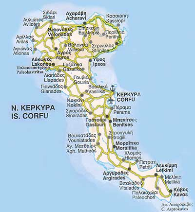Map of Greek Islands Ferry Routes Corfu Island Greek Ferries