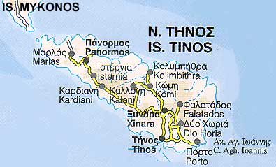 Tinos ferries schedules connections availability Tinos ferries