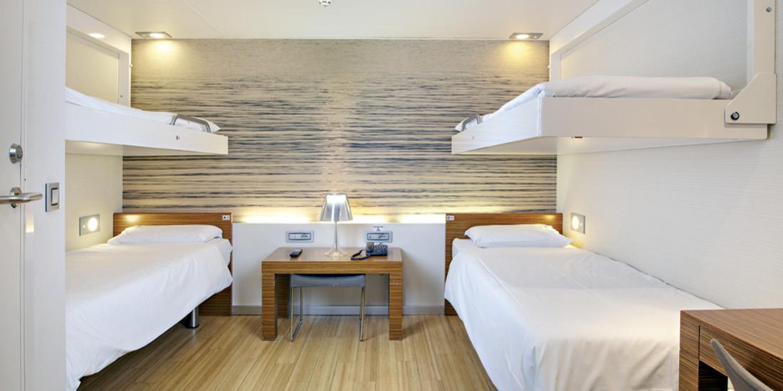 F/B Elyros 4 Bed inside cabin