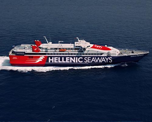 Passenger / Car Ferry  High Speed Hellenic Highspeed -Hellenic Seaways