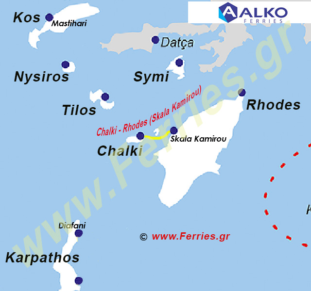 Alko Ferries Route Map