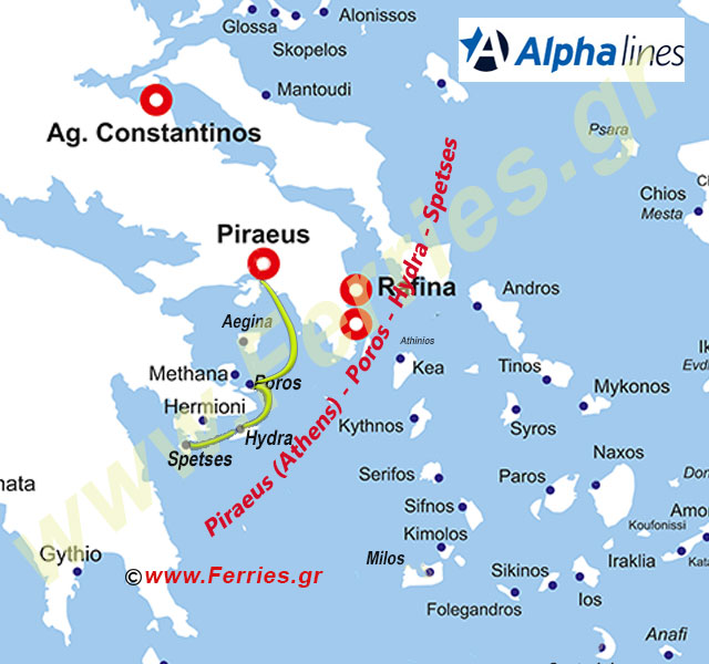 Alpha Lines Route Map