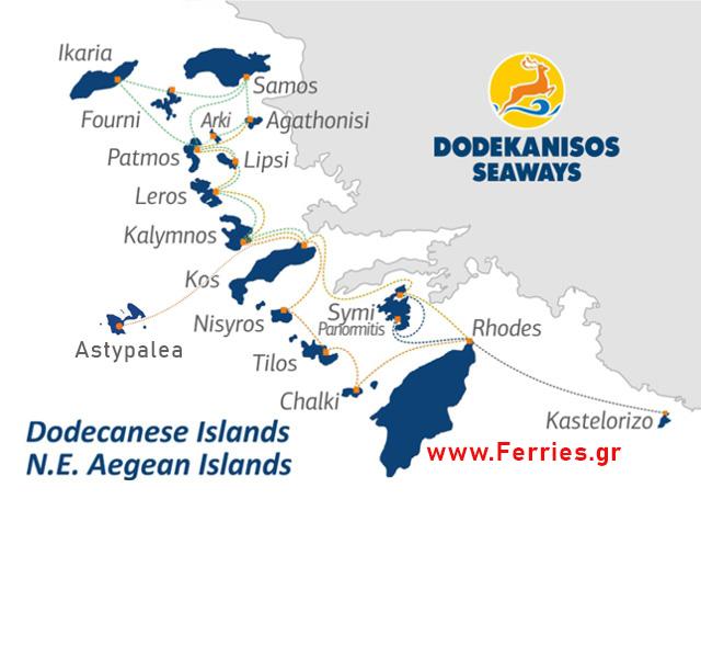 Dodekanisos Seaways Route Map