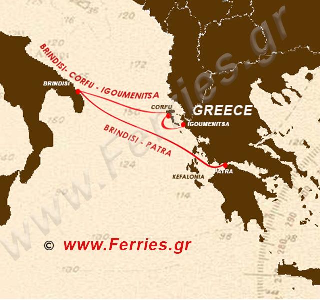 Grimaldi Lines Route Map