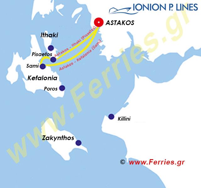 Ionion Pelagos Route Map