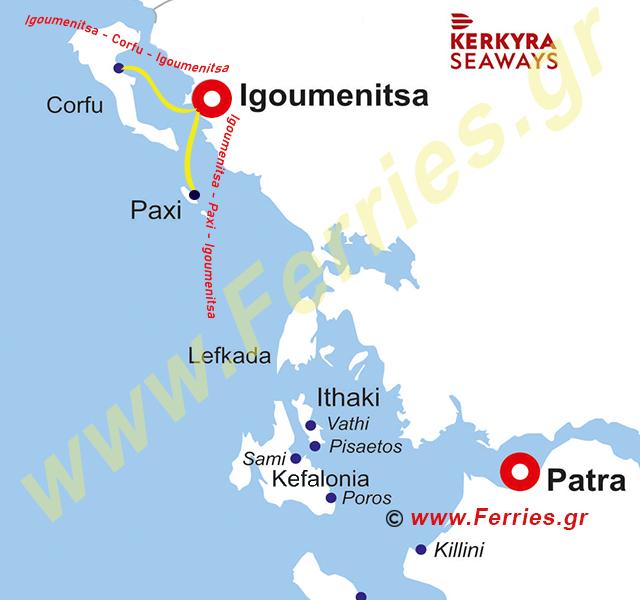 Kerkyra Seaways Route Map