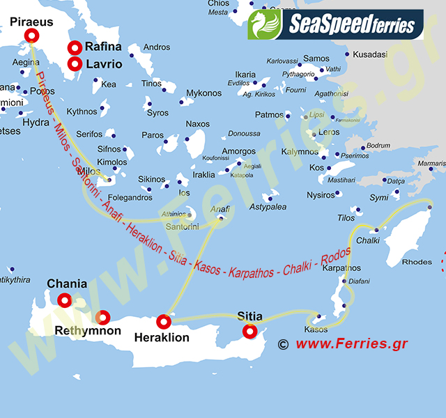 Sea Speed Ferries Route Map
