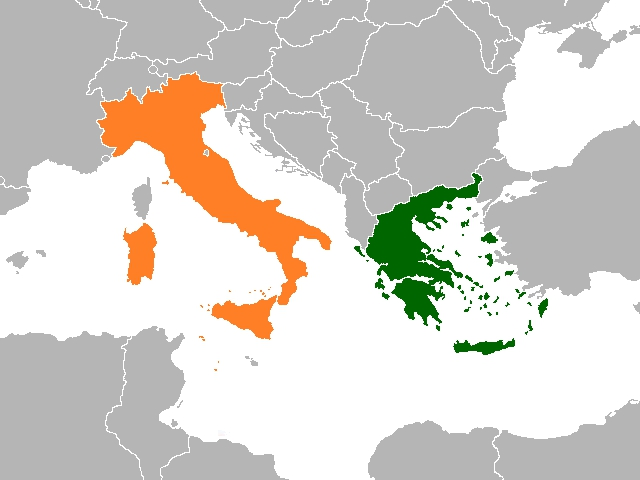 Italy to Greece