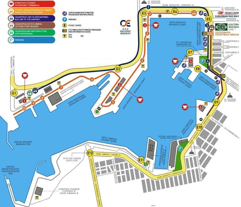 Piraeus Port Athens Greece Gates And Information Greek Ferries Info